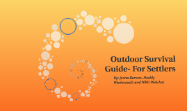 Outdoor Survival Guide- For Settlers