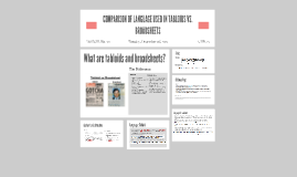 COMPARISON OF LANGUAGE USED IN TABLOIDS VS. BROADSHEETS