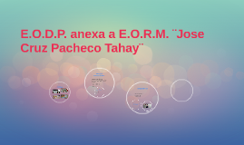 E.O.D.P. anexa a E.O.R.M. ¨Jose Cruz Pacheco Tahay¨