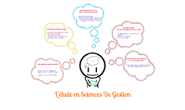 L'ETUDE EN SCIENCES DE GESTION