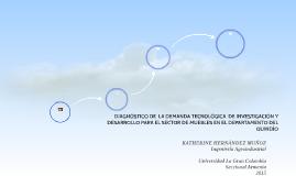 DIAGNÓSTICO DE  LA DEMANDA TECNOLÓGICA  DE INVESTIGACIÓN Y D