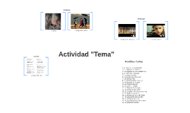 """Actividad """"Tema"""""""