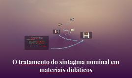 O tratamento do sintagma nominal em materiais didáticos