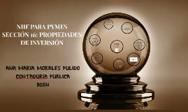 Copy of NIIF PARA PYMES SECCIÓN 16: PROPIEDADES DE INVERSIÓN
