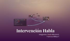 Intervención Habla