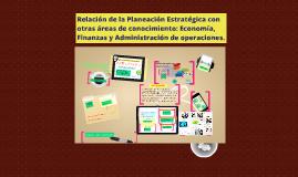 Copy of Relación de la Planeación Estratégica con otras áreas de con