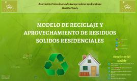 Modelo de Reciclaje y Aprovechamiento de Residuos Sólidos Residenciales