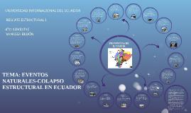 EVENTOS NATURALES-COLAPSO ESTRUCTURAL EN LAS PROVINCIAS DEL