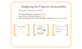 Budgeting for Program Sustainability