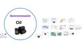 Nonrenewable: Oil