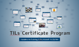 Copy of TILs Certificate Program