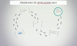 PROGRAMA DE NIVELACION 2014