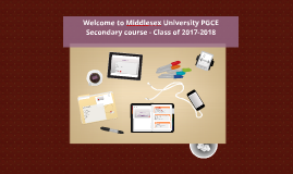 Welcome  2016-2017 PGCE Secondary course]