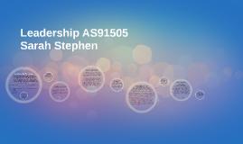 Copy of PE 3.8 Leadership- Sarah