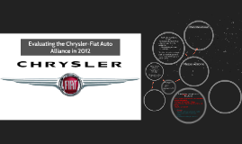 Evaluating the Chrysler-Fiat Auto Alliance in 2012