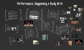 Copy of Performance, Happening e Body Arte