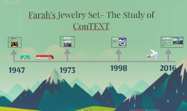Farah's Jewelry Set- The Study of ConTEXT