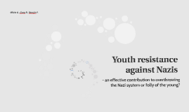 Youth resistance against Nazis