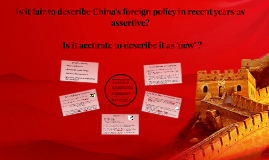 Is China's FP assertive?