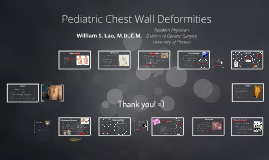 Pediatric Chest Wall Deformities