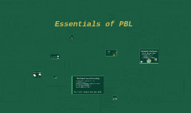 2015 Summer Essentials of PBL