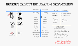 Internet creates the learning organisation