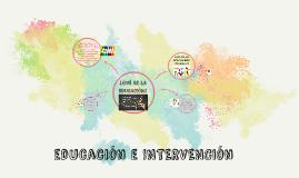 INTERVENCIONES EDUCATIIVAS