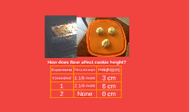 How oes flour affect cookie height?