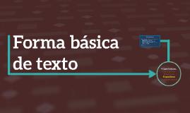 Forma básica de texto (expositivo)