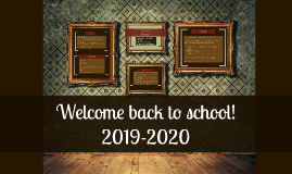 Welcome Back and Class Information