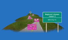 Copy of Beginner's Korean