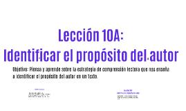 Copy of Lección 10: Interpretar el propósito del autor