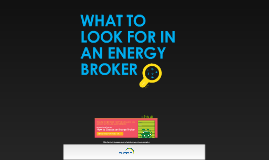 What to look for in an energy broker