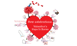 New celebrations: Valentine's Days in Korea
