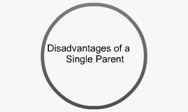 Disadvantages of Single Parent