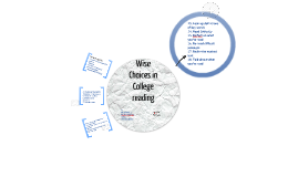 Copy of Wise Choices in College Reading