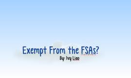 The FSAs
