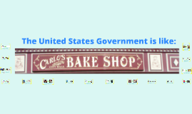 Copy of The National Government is like a Bakery