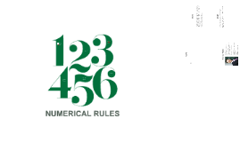 Numerical Rules