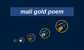 mali gold poem