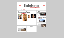 blonde sterotypes