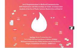IAMCR 2018 Rodrigo Cardoso Social Representations in Mediated Communication, Self-Presentation and Relationships on Tinder