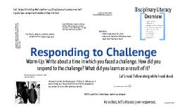 Responding to Challenge