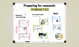 Preparing for research: humanities 2017-2018