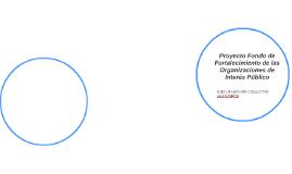 Proyecto Fondo de Fortalecimiento de las Organizaciones de