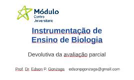 Instrumentação de Ensino de Biologia