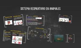 SISTEMA RESPIRATORIO EN ANIMALES