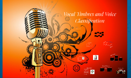 Vocal Timbres and Voice Classification