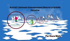 Activité Culminant-Environnement Naturel et Activité Humaine