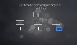 Copy of Clasificacion de las lenguas segun el Criterio morfologico